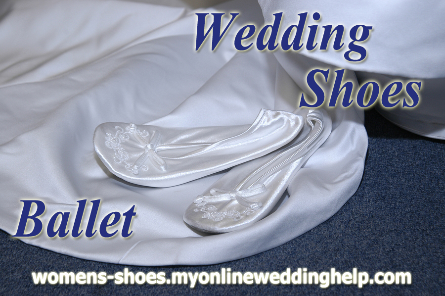 Ballet style wedding shoes.