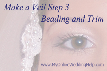 How to attach trim and beading to a veil
