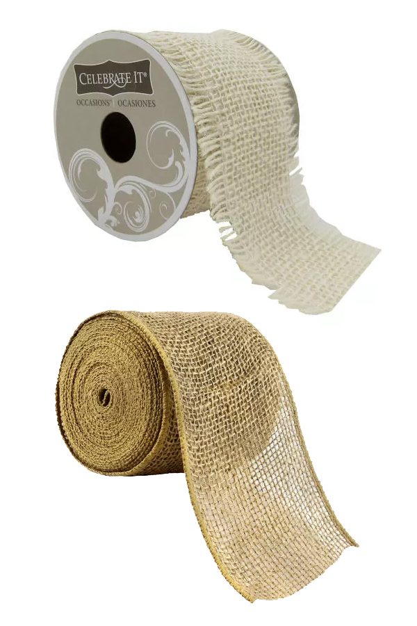 Burlap ribbon by the roll. #MyOnlineWeddingHelp