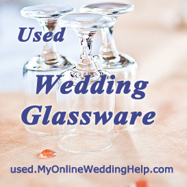 Used wedding glassware