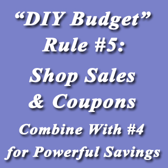 Rule #5. Sales and coupons.