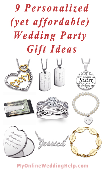 Personalized wedding gifts ideas that are also inexpensive. | MyOnlineWeddingHelp.com