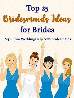 Top 25 bridesmaids ideas for brides. Ideas about what to do with the bridesmaids before the wedding, what to buy them for gifts, and personalizing wedding party activities.