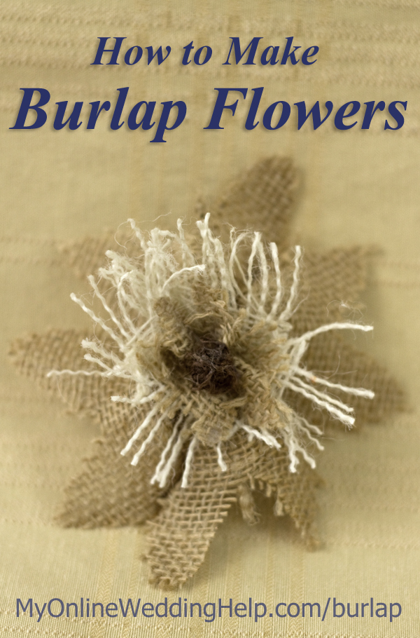 How to Make Rustic Burlap Flowers 1