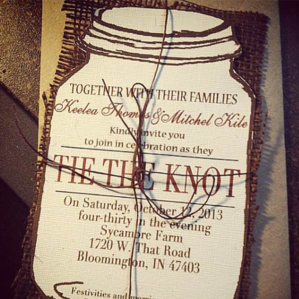 Top 10 Mason Jar Wedding Invitation Ideas My Online