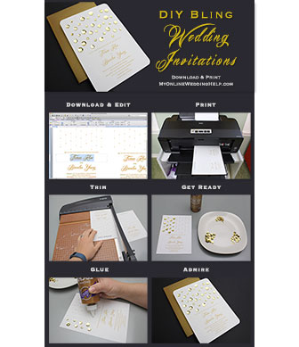 Diy bling wedding invitations my online wedding help budget ideas for planning a posh wedding on a budgetke your inexpensive wedding junglespirit Images