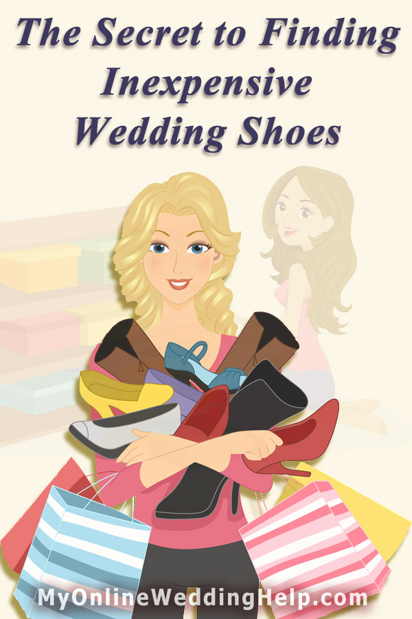 Tips for finding and getting the best deal on your wedding shoes. #MyOnlineWeddingHelp