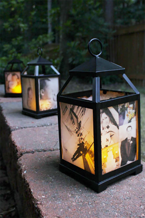 Lantern wedding decorations for walkways at reception or ceremony...hang them on hooks as aisle decor at the ceremony; use as centerpieces or set them on a pathway to decorate the reception. Elegant Country Rustic Wedding Ideas number 14. #weddinglanterns #RusticWedding #CountryWedding #MyOnlineWeddingHelp