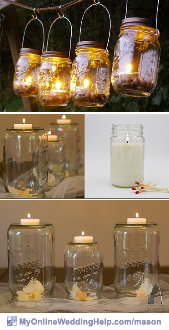 19 Mason Jar Centerpiece Ideas for Weddings - My Online Wedding Help ...