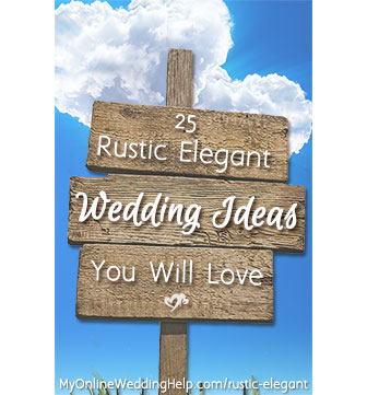 Rustic elegant wedding ideas you will love, plus a few planning tips for brainstorming your own rustic wedding with sophisticated details.