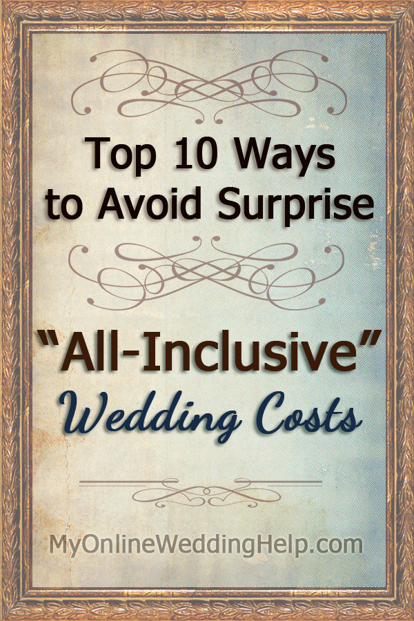 How to avoid surprises in wedding packages like extra tips, undisclosed fees, and add-ons you didn't talk about. #MyOnlineWeddingHelp