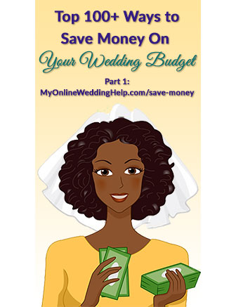 Over 100 ways to save money on your wedding (part 1 of 3).  These are the first 38 tips, for making your wedding budget stretch further when it comes to money management as well as venue and planner, caterer, and toast.