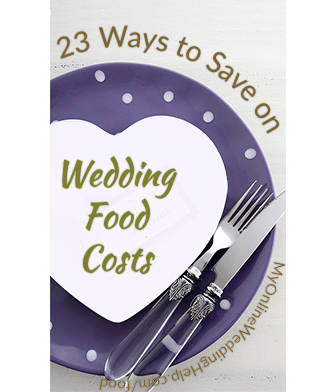 Ideas on how to save on wedding food costs. Combine catering and DIY, get details on how food bill is figured, ask about alternative ingredients, etc.