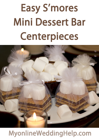 How To Make Mini Smores Bar Centerpiece Favors My Online Wedding