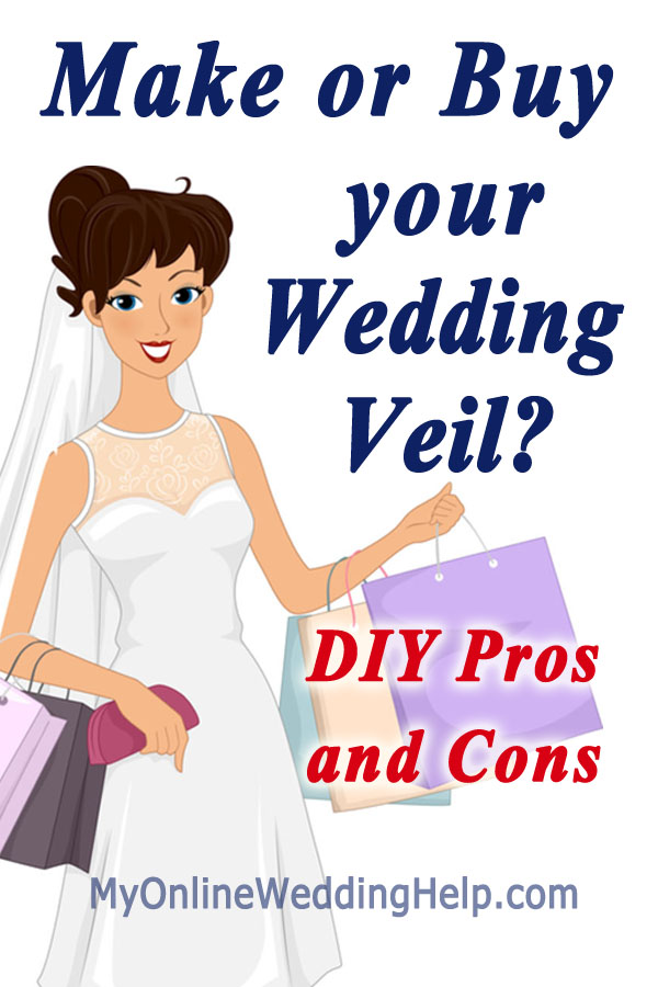 Your Veil: DIY or buy...considerations, pros and cons when deciding whether to make your own veil. #myonlineweddinghelp