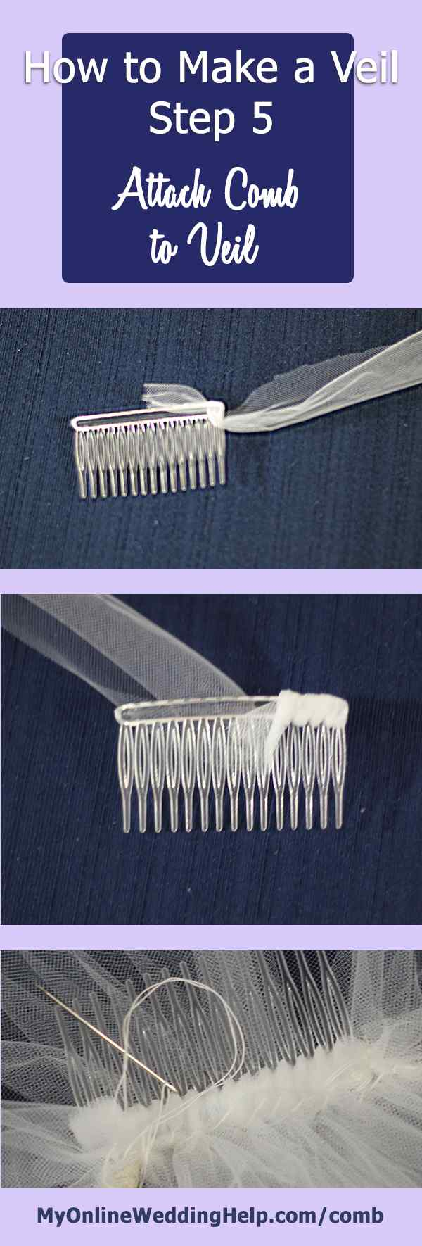 Making A Bridal Veil With Comb Diy This Is The Last Step In