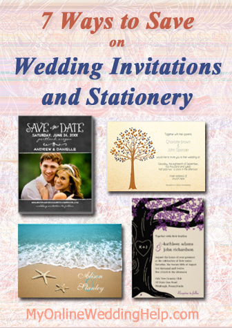 Wedding Invitation ideas ... 7 Ways to Save. Links to a lot of different inexpensive designs, too. | #MyOnlineWeddingHelp MyOnlineWeddingHelp.com