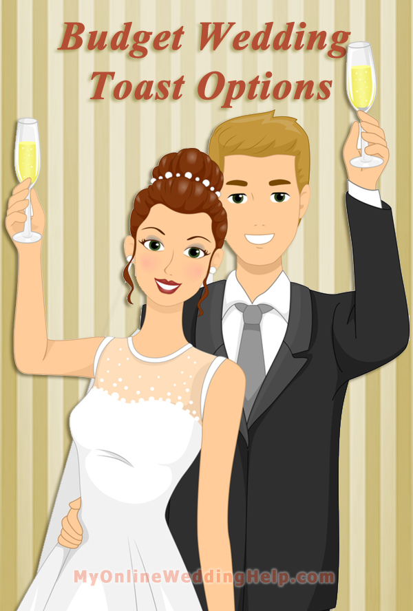 Wedding toast--ideas for having a formal toast while also saving on drink or champagne cost. #myonlineweddinghelp